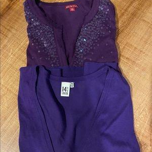 Purple sweaters